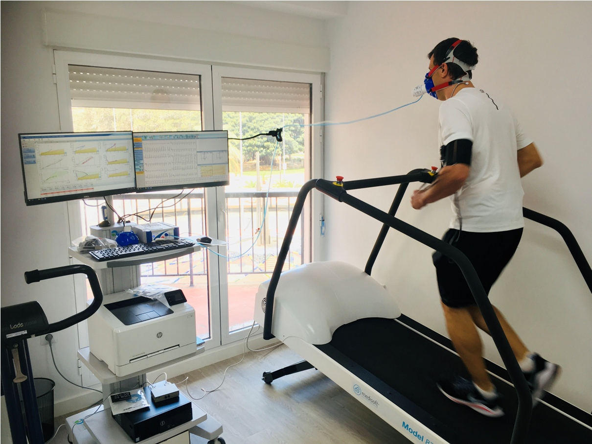 Prueba de esfuerzo, ergoespirometría, cinta, treadmill