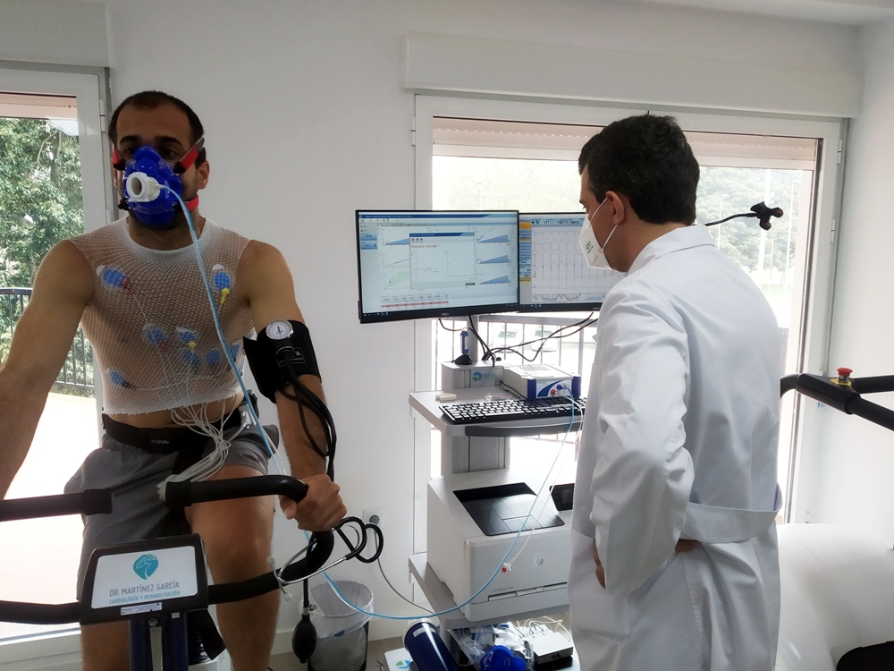 prueba de esfuerzo, ergoespirometría, cicloergómetro
